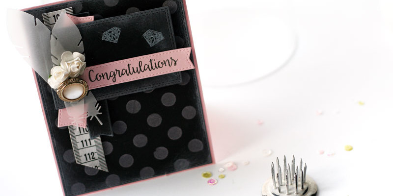 Chalkboard Card Congrats by Julia Stainton featuring MFT Stamps