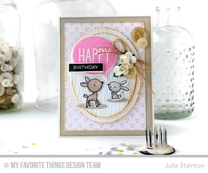 Happy Birthday Deer Card By Julia Stainton Featuring Mft Stamps July ...