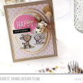 Happy Birthday Deer Card by Julia Stainton featuring MFT Stamps July Release