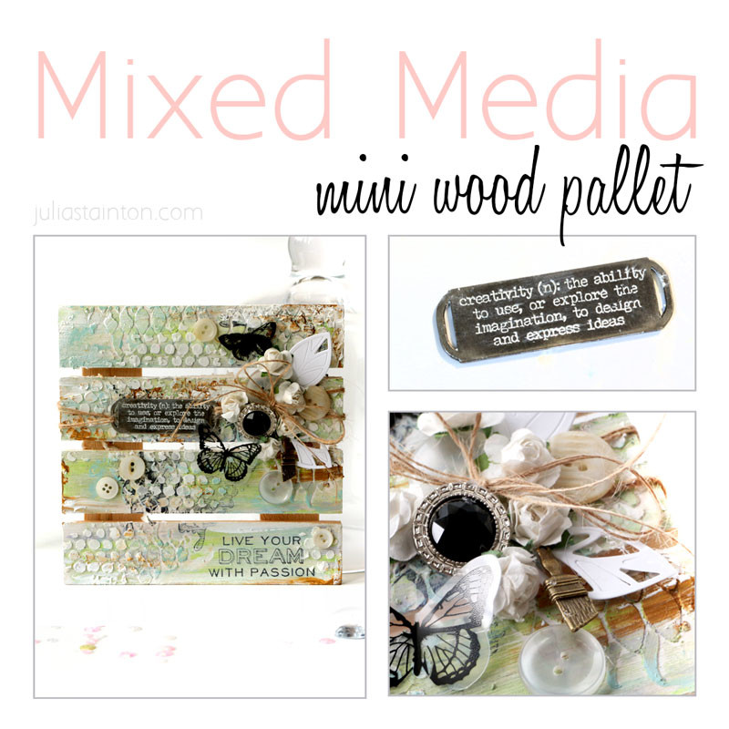 Wood Pallet Mixed Media Art Project by Julia Stainton