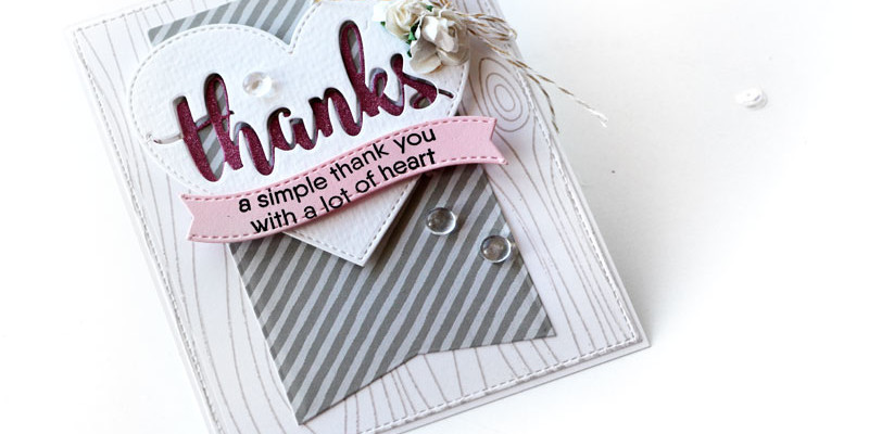 Hearfelt Thanks Card by Julia Stainton featuring MFT stamps and Scrapbook Adhesives by 3L
