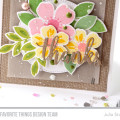 Sweet Stamped Floral Thank You Card by Julia Stainton featuring MFT Stamps Flashy Florals