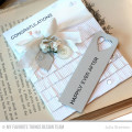 Wedding Congratulations Handmade Fringe Card by Julia Stainton featuring MFT Stamps