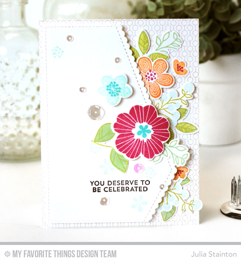 Celebrated Card by Julia Stainton featuring MFT Stamps