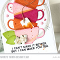 Tea Time Card by Julia Stainton featuring MFT Stamps