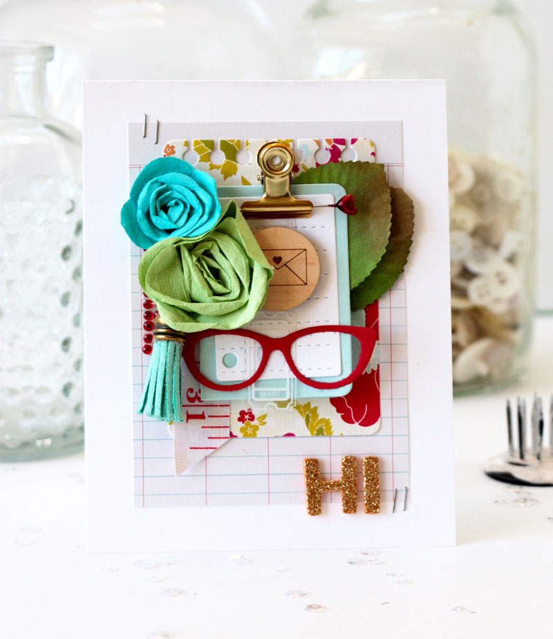Office File Folder Card by Julia Stainton featuring Maya Road