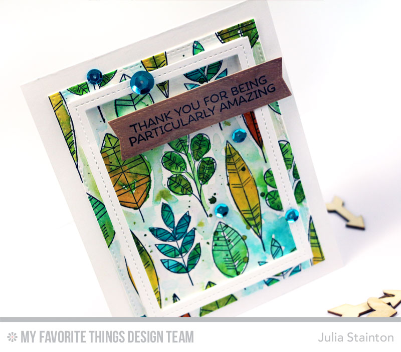 Particularly Amazing Thank You Card by Julia Stainton featuring watercoloring and MFT Stamps