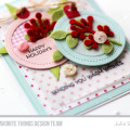 Shabby Chic Ornament Holiday Tags Card by Julia Stainton featuring MFT Stamps