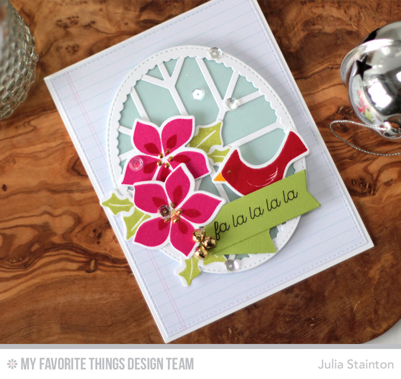 Christmas Window Card by Julia Stainton featuring MFTWSC304