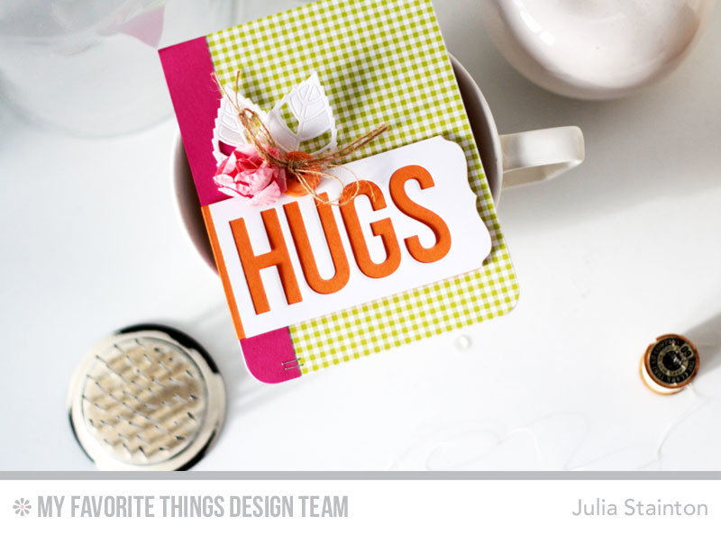 Big Hugs Card by Julia Stainton featuring MFTWSC315 and MFT Stamps