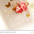 Gold Foil Die-cuts Thank You Card by Julia Stainton featuring MFT Stamps