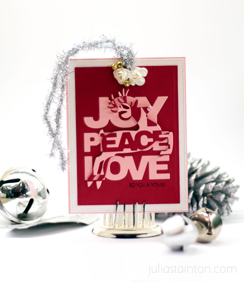 Rectangle Die Cutting Christmas Tag by Julia Stainton