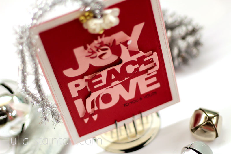 Joy Peace Love Tag & Technique - Belle Papier