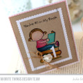 Bookworm Pure Innocence Card by Julia Stainton featuring MFT Stamps