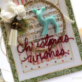 Deer Christmas Wishes Advent Calendar Card by Julia Stainton