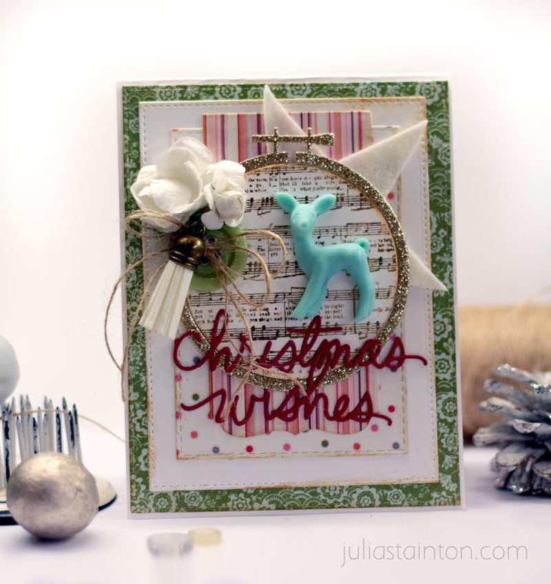 Christmas Wishes Advent Calendar Card by Julia Stainton