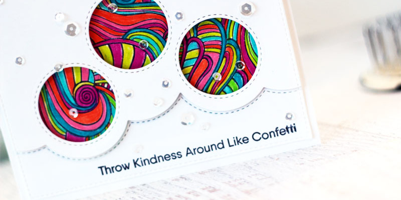Throw Kindness Confetti Card by Julia Stainton featuring MFT Stamps