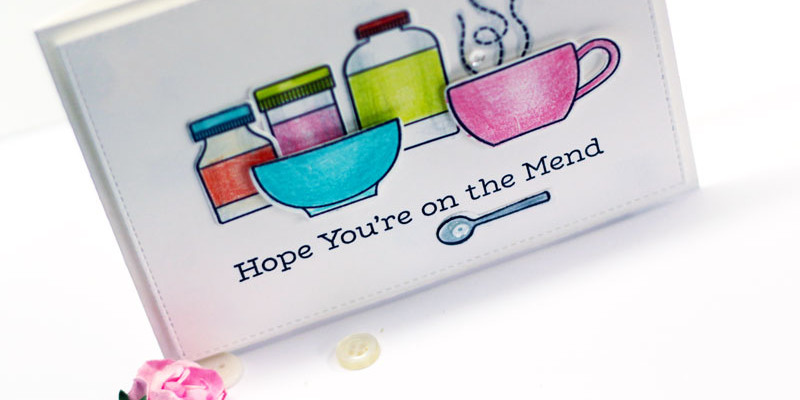 On the Mend Get Well Card by Julia Stainton featuring MFT Stamps