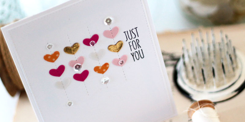 Hearts and Stitches Card by Julia Stainton featuring MFT Stamps