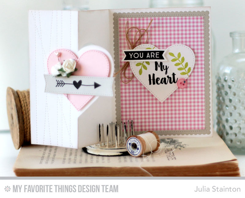 My Heart Flip Flop Valentine Card by Julia STainton featuring MFT Stamps