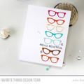 Hello Beautiful Glases Card by Julia Stainton featuring MFT Stamps
