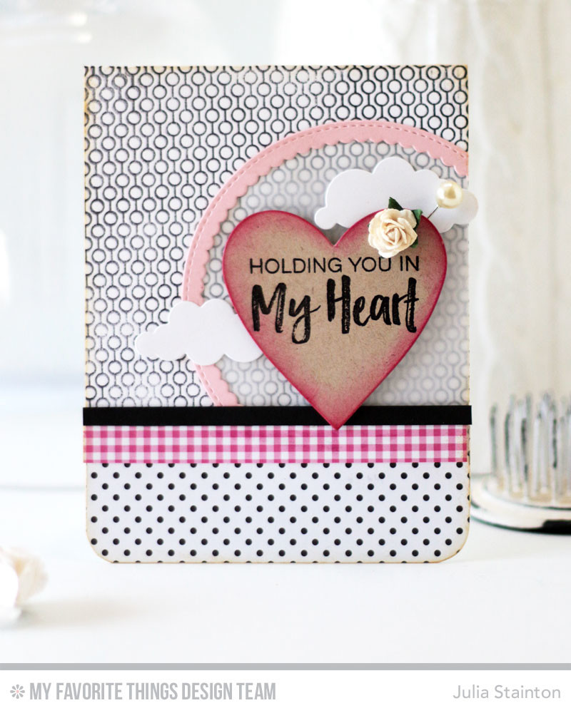 Holding You in my Heart Card by Julia Stainton featuring MFT Stamps sketch challenge