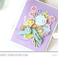 Spring Florals Gift Card Interactive Card by Julia Stainton featuring MFT Stamps
