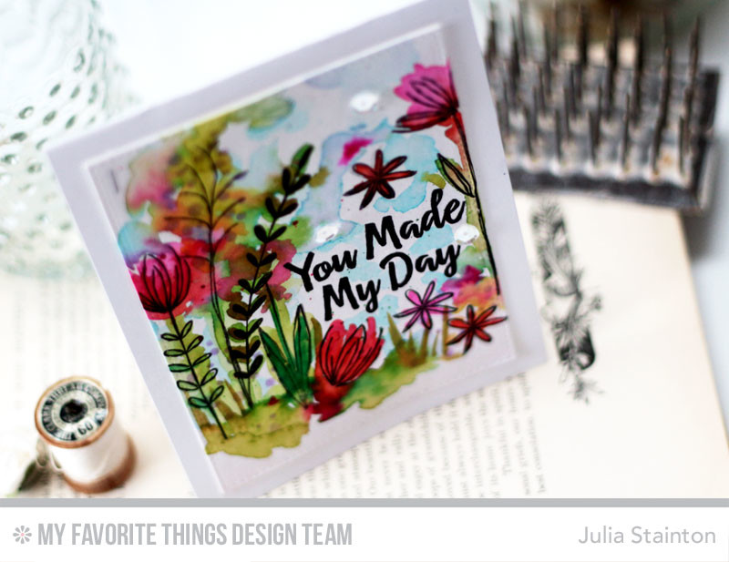 Watercolor Sketched Blooms 2 by Julia Stainton featuring MFT Stamps