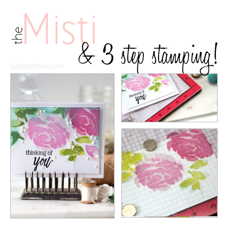 Misti Stamping tutorial with 3 Step Stamping by Julia Stainton featuring the Sweet Petunia Misti Tool and Altenew