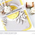 Happy Anniversary Card by Julia Stainton featuring Blueprints 31 Die-namics by MFT Stamps