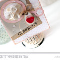 Baby Rattle Congrats Card by Julia Stainton featuring MFT Stamps