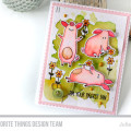 Watercolor Pig Card by Julia Stainton featuring MFT Stamps