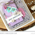 Sweet Birdhouses Card by Julia Stainton featuring MFT Stamps
