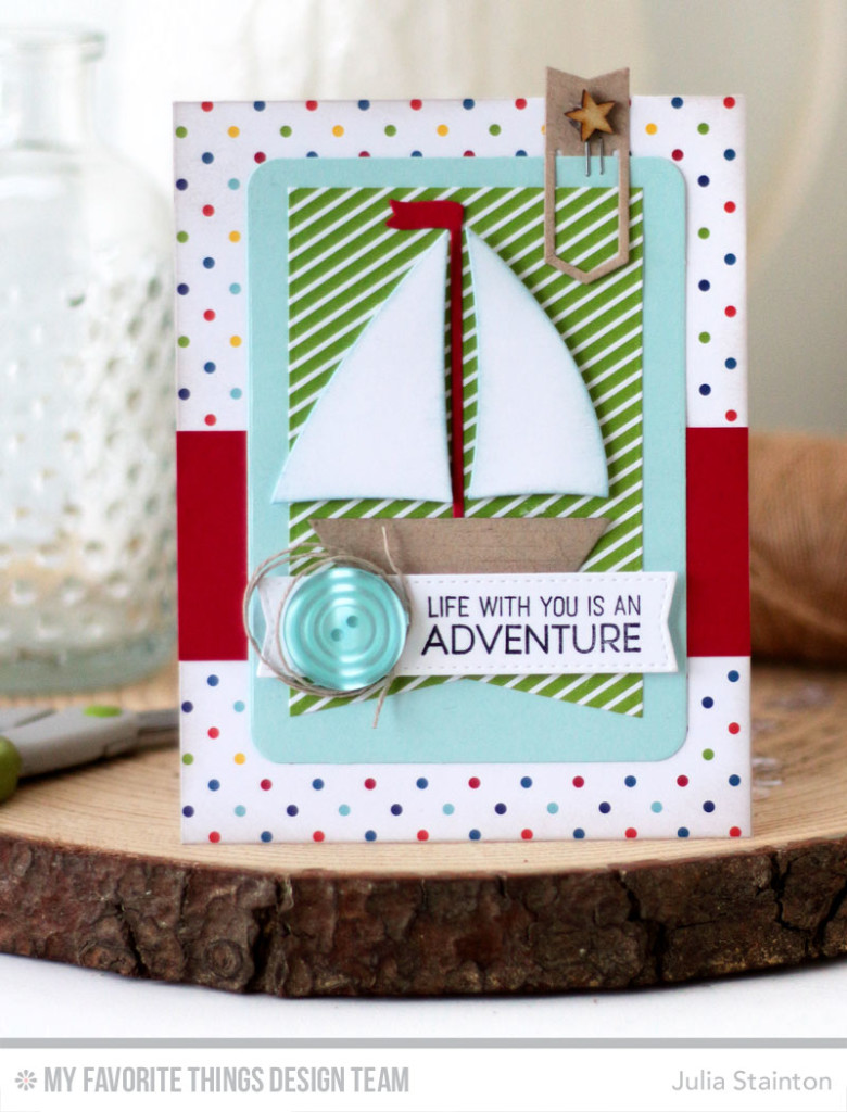 Sailboat Adventure Card by Julia Stainton featuring MFT Stamps