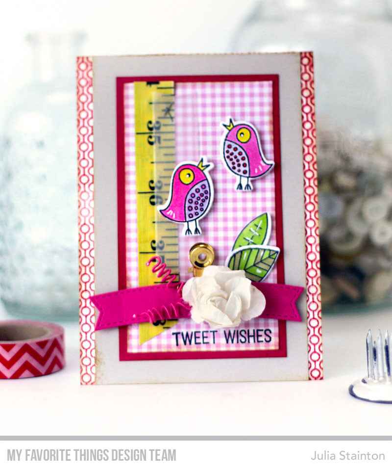 Tweet Wishes Spring Card by Julia Stainton featuring MFT Stamps