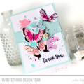 Beautiful Butterflies Thank you Card by Julia Stainton featuring MFT Stamps