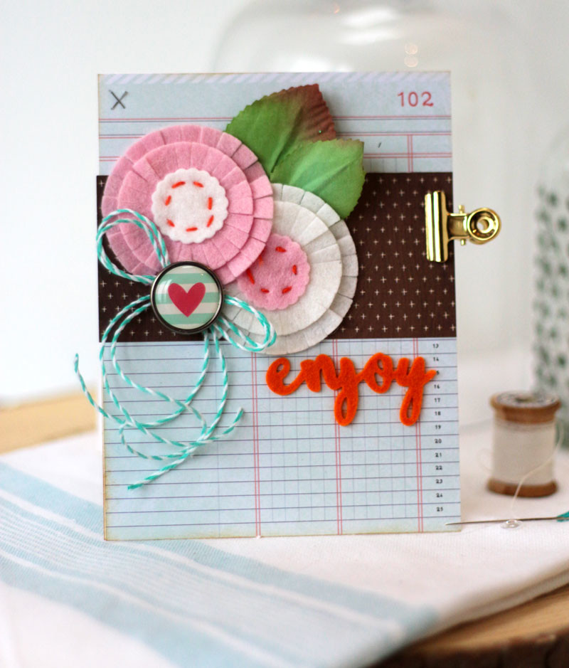 Stitched Felt Die-cuts Embellishments by Julia Stainton featuring Maya Road dies and Taylored Expressions Felt