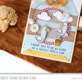 Happy Seagulls Tag Card by Julia Stainton featuring MFT Stamps