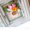 Mason Jar Bouquet Altered Frame Papercraft by Julia Stainton featuring Maya Road