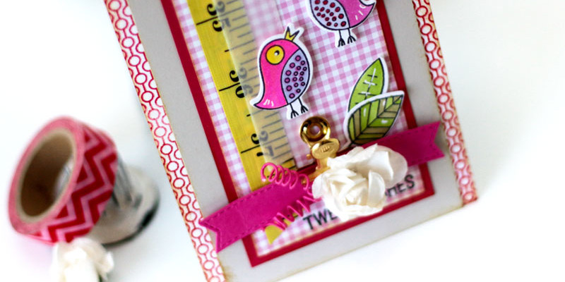 Tweet Wishes Card by Julia Stainton featuring MFT Stamps