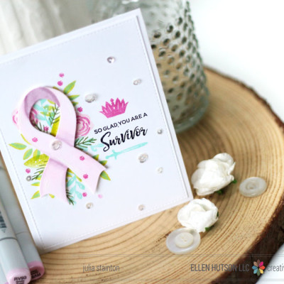 How to Shade Die-Cuts with Copic Markers and a Cancer Fundraiser