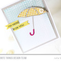 Here for you Umbrella Card by Julia Stainton
