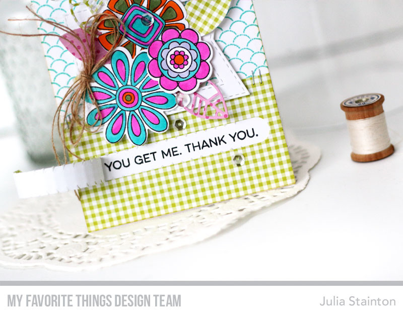 Interactive Ripped Sentiment Card by Julia Stainton featuring MFT Stamps