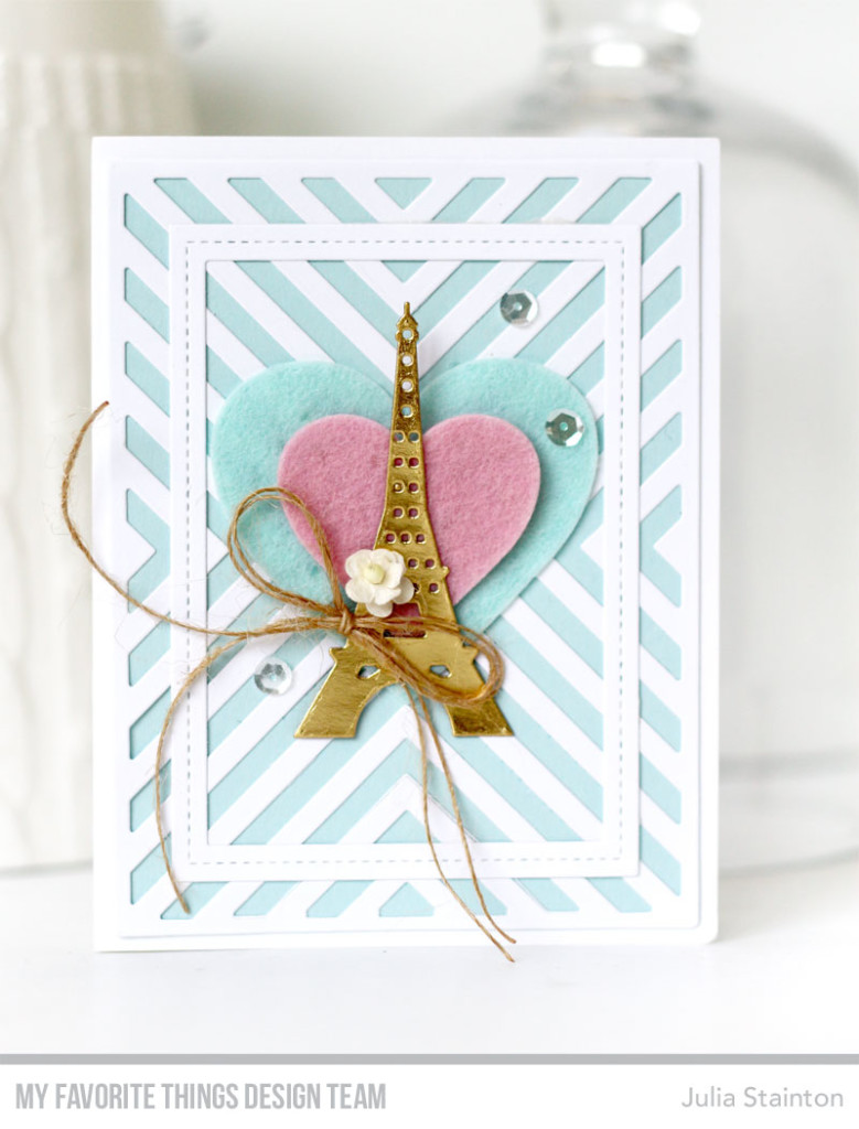 With Love From Paris Card by Julia Stainton featuring MFT Stamps