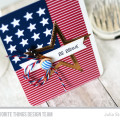 Brave American Flag Card by Julia Stainton featuring MFT Stamps