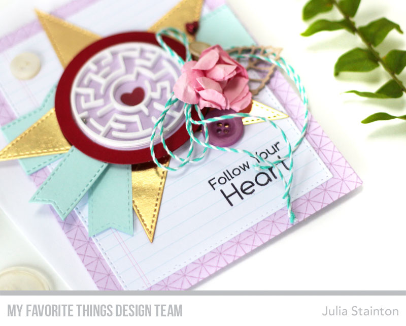 Follow Your Heart Maze Card by Julia Stainton featuring MFT Stamps