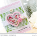 Love You Deeply Heart Shaker Card by Julia Stainton featuring MFT Stamps