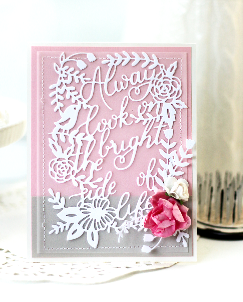Always Look on the Bright Side of Life Quote Card by Julia Stainton featuring Pinkfresh Studio