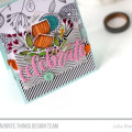 Sketchy Flowers Stamped Celebrate Card by Julia Stainton featuring MFT Stamps