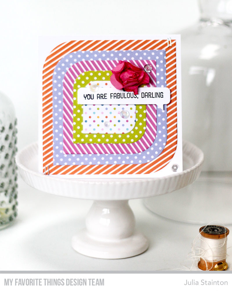 Fabulous Darling Mod Square Card Design by Julia Stainton featuring MFT Stamps